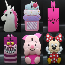 For Sony Xperia C5 Phone Bags Cute cartoon 3D Pink shy rabbit soft Silicon back cover case for Sony Xperia C5 Ultra / Dual E5533