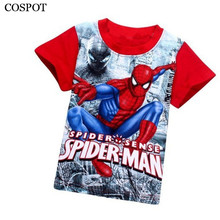 Baby Boys Summer Spider-man T Shirt Boy Short-sleeved Spider Man T-shirt Kids Cotton Fashion Top Tee 2017 New Arrival 10C