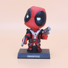 13.5cm Deadpool Wacky Wobbler Bobble Head PVC Action Figures toys Doll With Base Free shipping(China)
