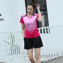 Badminton Team Clothes Men Women Badminton Sets Sports Table Teenis Clothes Badminton Shirt Shorts Customized Competitive Suits(China)