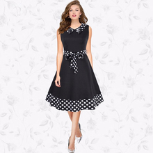 2017New Arrival Women Vintage Plus size Dot elegant formal office Evening Party Sexy Dres Skirt vestidos elbise Robe free ship