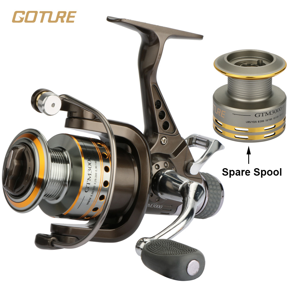 Goture Spinning Fishing Reel 7+1BB Double Drag Saltwater Reel With A Spare Spool GTM3000<br><br>Aliexpress