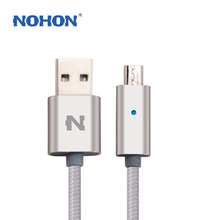 NOHON 1.5M LED Smart Light Micro USB Data Transfer Charge Cable For Android Phone Samsung Sony LG Huawei Xiaomi Charging Wire(China)