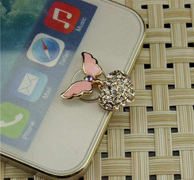 Love the angel heart button to paste the phone accessories phone sticker Home Button stickers for iPhone(China)