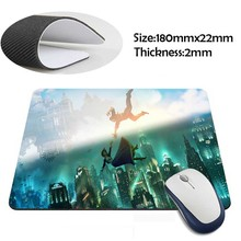 elizabeth and booker bioshock infinite Rubber Soft aming Mouse ames Black Mouse pad