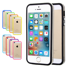 10 color Soft PC+Silicone Bumper Frame Case Cover Side protection for iPhone 7 8 Plus 4 4s 5 5s SE case for iphone 6 6s plus