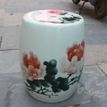Peony painting Jingdezhen porcelain Garden stool ceramic stool for dressing table drum chinese chinese ceramic drum stool
