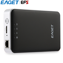 EAGET A86 USB 3.0 High-Speed Wireless Storage Hard Disk HDD With 3G Router / Mobile Power Bank(China)