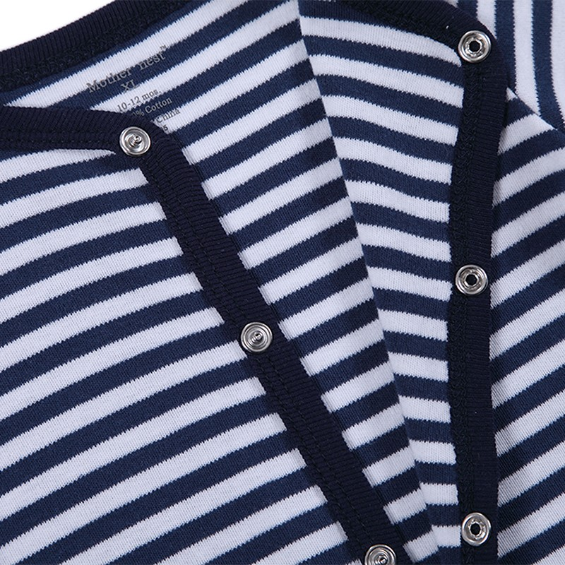 Baby Boys Girls Long Sleeve Rompers 2016 Autumn and Winter Newborn Boys Striped Jumpsuit Infant Baby Clothing Retail (4)