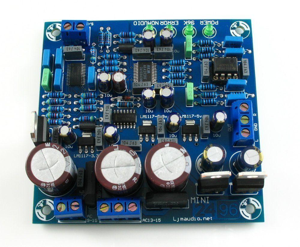 DIY Kit of DAC 2496 (AK4393)+CS8416+AK4393+5532<br>