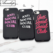 Fashion Anti social social club Frosted Hard Case For iphone 6s Plus 7 8 Plus Cover For iphone X 5s SE phone case New letters