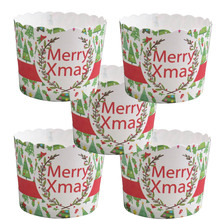 50pcs/bag New Pine tree design Merry Xmas Christmas Sauta Gifts Design Christmas Paper cake cup Baking cake cup