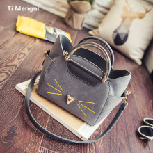2017 the new single shoulder bag ears packets, Japan and South Korea frosted handbag oblique satchel cat wings with the bag
