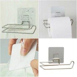 Подставка из нержавеющей стали под бумажные кухонные полотенца, с крючками