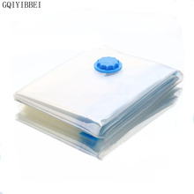 GQIYIBBEI High Quality Transparent Plastic Saver Space Seal Vacuum Storage Bags For Clothes Compressed Organizer Bag Multi-size