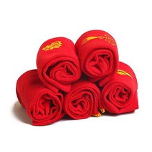 High quality Wedding socks red socks Breathable Embroider sock China Knot Marriage Cotton Red Tube Socks(China)
