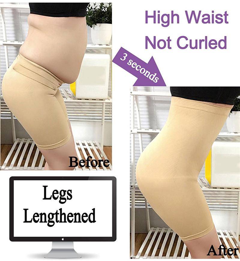 NINGMI Slimming Pants Women High Waist Trainer Tummy Control Panties Thigh Butt Lifter Slim Leg Hot Body Shaper Firm Power Short 5