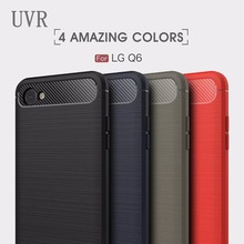 UVR For LG Q6 Case Phone Cases Carbon Fiber Protective Back Cover Mobile Phone Cases For LG Q6 Cover Q 6(China)