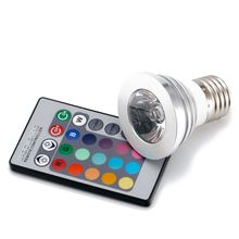 CSS 4x E27 Standard Screw Base 16 Colors Changing Dimmable 3W RGB LED Light Bulb with IR Remote Control (with memory function)(China)