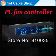 "Free shipping&wholesale 1PCS  5.25"" drive bay computer case fan speed controller temperature controller"