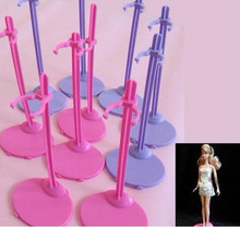 2016 New arrival 10pcs/lot 2 colors mixed Doll Stand Display For Dolls High dolls(China)