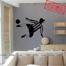Soccer star Ronaldinho Wall Sticker / characters sport stickers / sporting goods store decoration stickers(China)