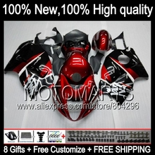 Bodys For SUZUKI Hayabusa GSXR1300 96 97 98 99 00 01 15HM7 Dark red blk GSXR 1300 GSX R1300 GSXR-1300 02 03 04 05 06 07 Fairing(China)