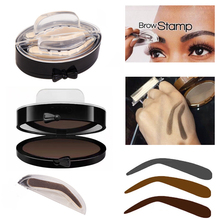 2017 Professional Natural Arched Eyebrow Stamp Brow Stamps Powder Palette Delicated Beauty Makeup Tool Eyebrow Powder seal