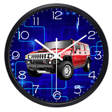 Retro SUV Electric current Wall Clock for Boy Men Room(China)