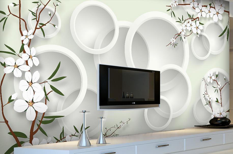 custom  3d wall murals Fresh flowers vertical stripes wallpaper home decor living room bedroom wallpaper<br><br>Aliexpress