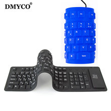 DMYCO 109keys Russian Spanish Wired USB Interface silicon keyboard Russian layout teclado Waterproof for PC Desktop Laptop(China)