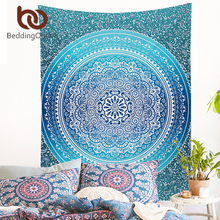 BeddingOutlet Crystal Arrays Wall Hanging Tapestry Bohemia Floral Wall Carpet Home Decor Polyester Soft 130cmx150cm 150cmx200cm(China)
