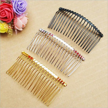 6pcs/lot Wedding Hair comb Rhodium/Black/Gold Hairpin Wedding Hair Accessories Metal Hair Combs Noiva DIY Jewelry Findings Z58