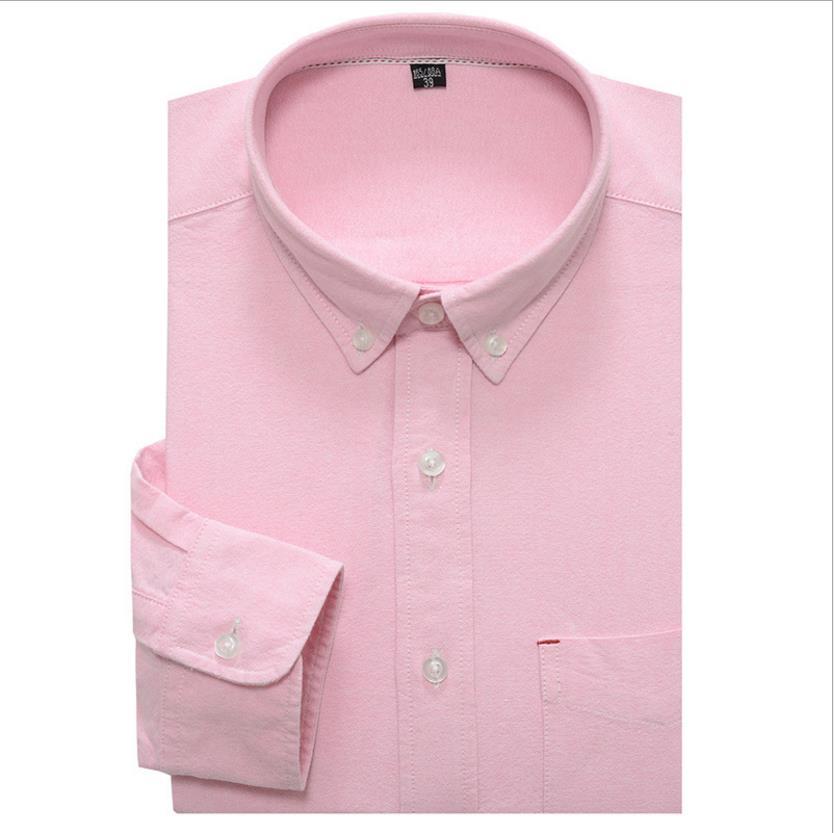 Men Oxford Casual solid Shirt 2018 Long Sleeve Slim Fit Comfortable Shirt Mens High Quality Dress Shirts Brand Clothing