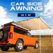DANCHEL  Awning Tent 2X3M, 6.56x9.84ft  4WD Roof Tent Awning Car Roof up Tent Sun Shade Awning Side Tent Toldo for Car