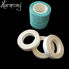 5 rolls Tape Double Sided Adhesive Tape 1cm*3 yard for PU Skin Weft Tape Hair Hair Extension tools Blue white color