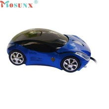 ecosin2 Brand New Fashion BLUE Car Shape USB 3D Optical Mouse Mice For PC/Laptop Wholesale price  17mar24