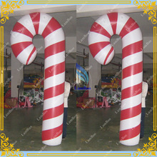 Inflatable Candy Cane for Christmas, Inflatable PVC Candy Cane for Advertising, Inflatable air sealed candy cane for festival