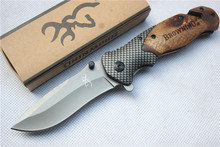 Browning X50 Tactical Folding Pocket Knife Steel Blade Wood Handle Titanium Knives Huntting Fishing EDC hand Tools