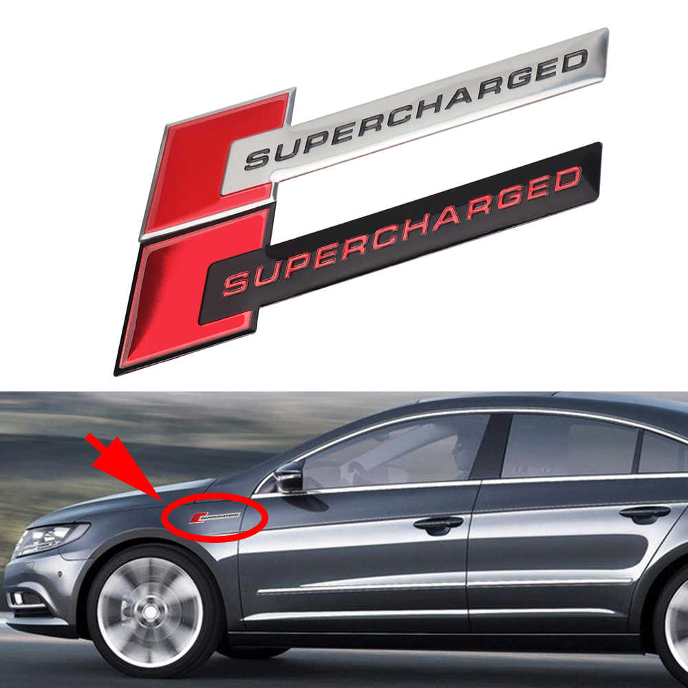 Detail feedback questions about supercharged badge logo car sticker metal trim fender trunk decor universal car tuning for jeep bmw ford volvo nissan mazda