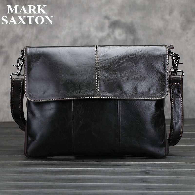 Vintage Fashion 100% Real genuine leather men messenger bags High quality shoulder crossbody bag brand casual men bags<br>