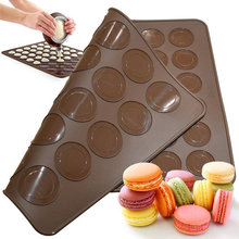 Silicone Baking Mat Large Macaroon Baking Mold Double Sided Macaron Dessert Sheet 30&48 Circles(China)