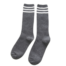 Winter Fall Women Girls Tube Socks Knitting Warm Cotton Socks Elastic Socks