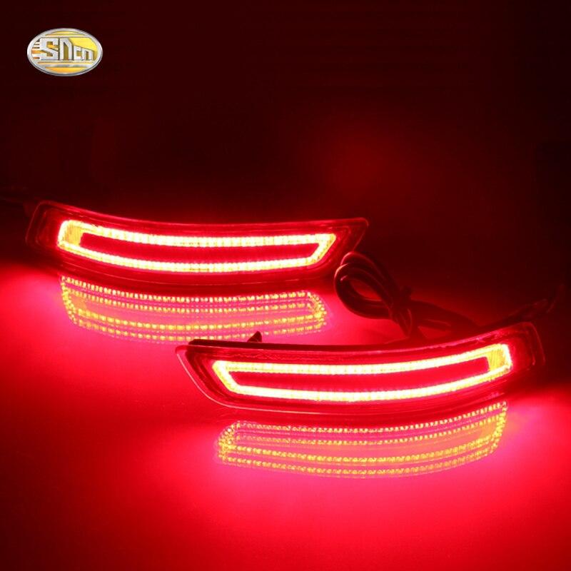 SNCN Led rear driving lights for Toyota Corolla 2013-2016 Led Brake Lights rear bumper lamp Turning Signal light<br>