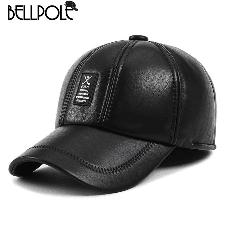 2017 Limited Real Adult Golf Logo Winter Baseball Cap Men Thicken Snapback Caps With Earflaps Dad Hats Trucker Bone Chapeu(China (Mainland))