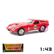 New Style 1965 Shelby Cobra Daytona Coupe Diecast Car Models 1/43 Scale With Box Children Gifts Displays and Collections Red and
