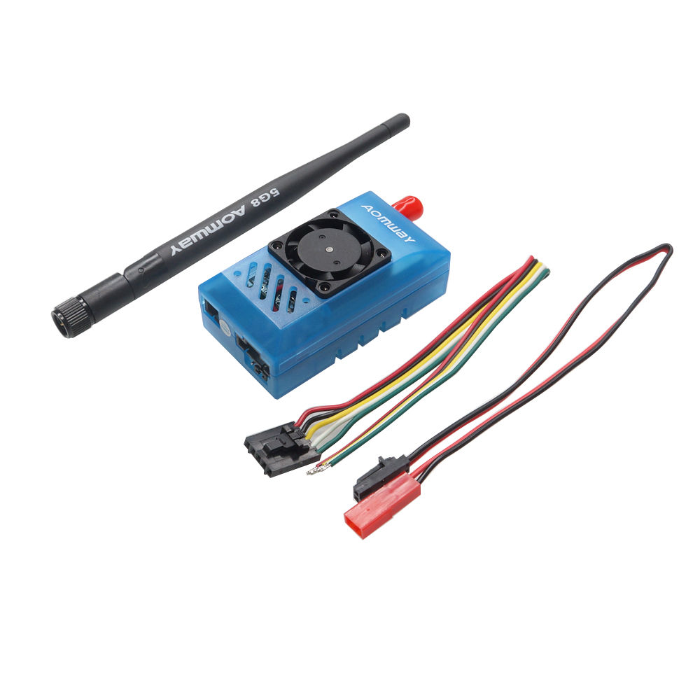 FPV Antenna Aomway 5.8G 1000mW Audio/Video AV 1W Transmitter &amp; 5.8G Receiver w/Antenna for rc quadcopter<br>