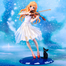 Your Lie in April Miyazono Kaori Action Figure Cute Perform dress Ver. PVC Statue 18cm no box (Chinese Version)
