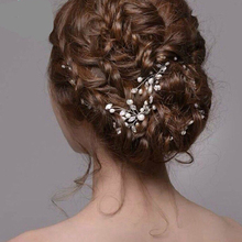 hair stick Fashion New Wedding Bridal head jewelry Bridesmaid Pearls Hair Pins Clips Comb Headband bride hair accessories