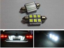 2x License plate Light 6418 Error Free 6 SMD LED W211 Mercedes E320 E350 E500 E55